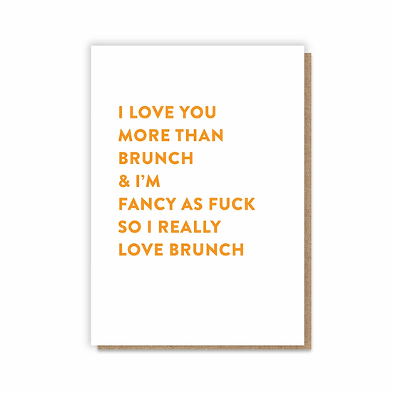 Brunch Card