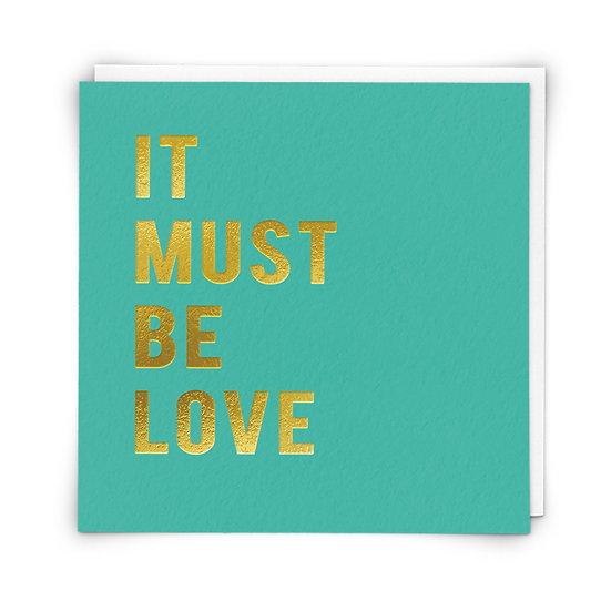 It Must Be Love Card