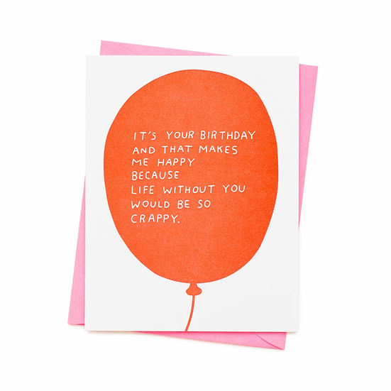 Happy With You Birthday Card