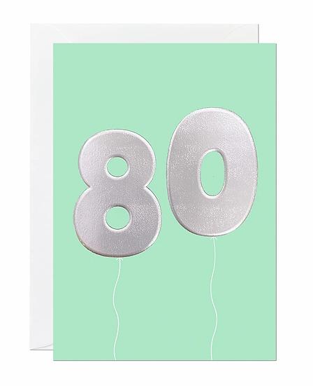 80 Balloon Card