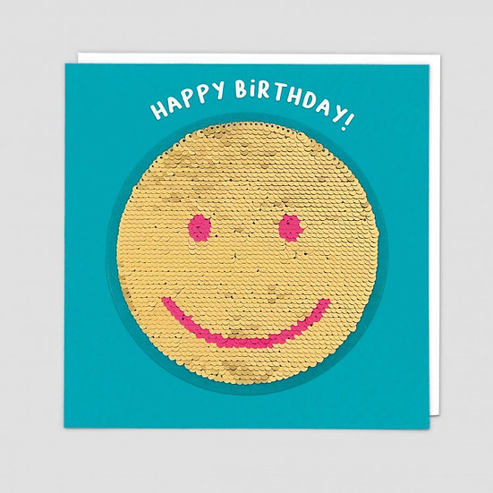 Smiley Sequin Card
