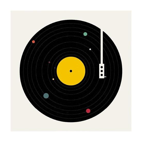 Vinyl Circles Card