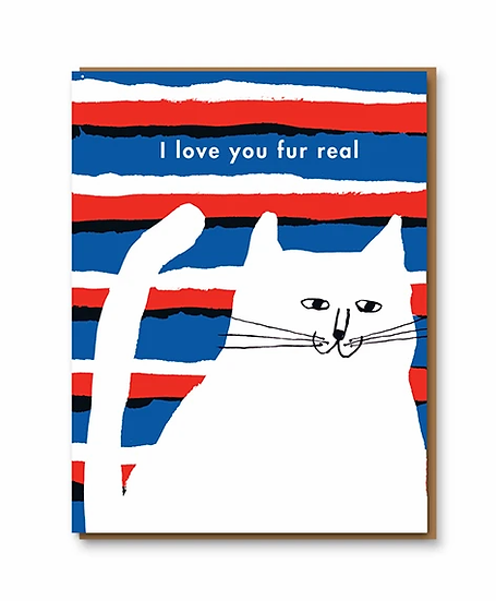 Love You Fur Real Card