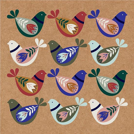 Floral Birds Card