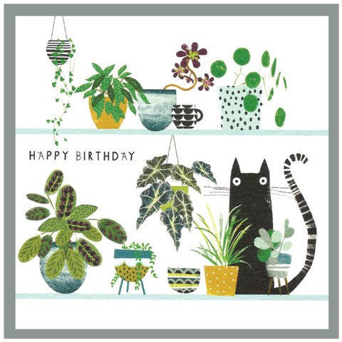Cat Plant Party Card