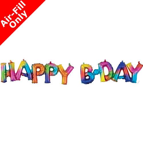 Rainbow Happy B-day Banner
