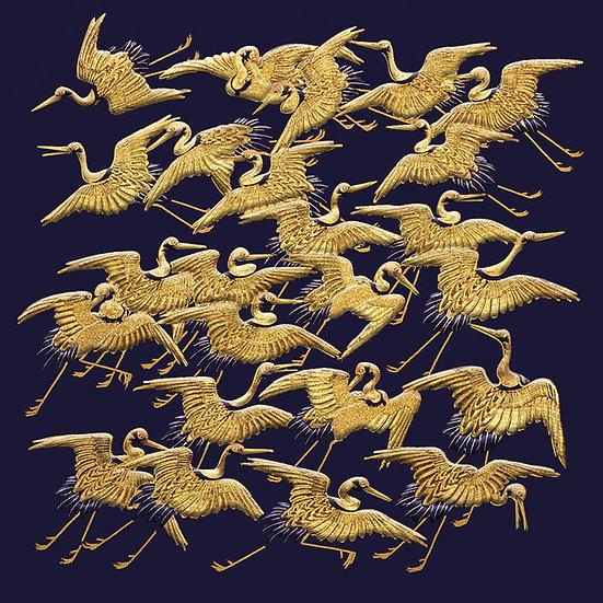 Golden Cranes Card