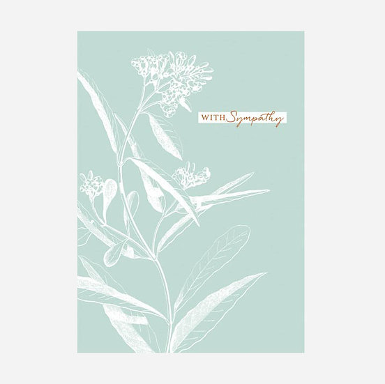 With Sympathy Floral Card