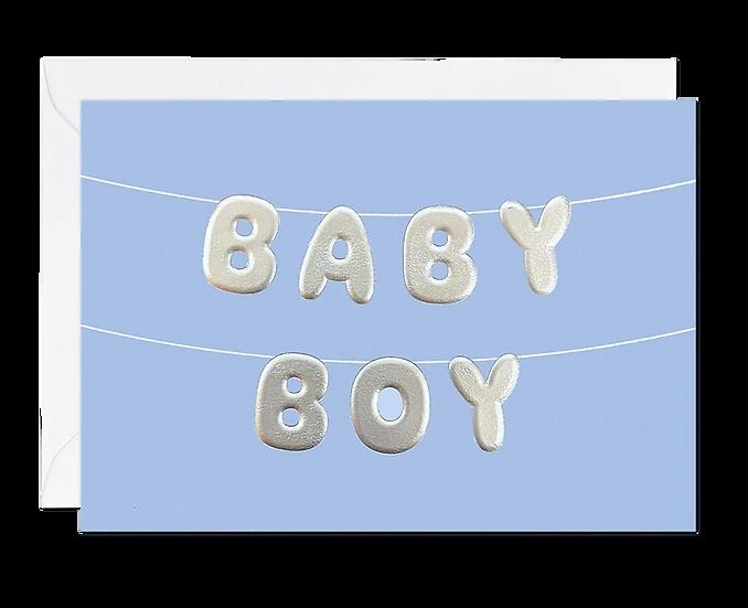 Baby Boy Balloons Card