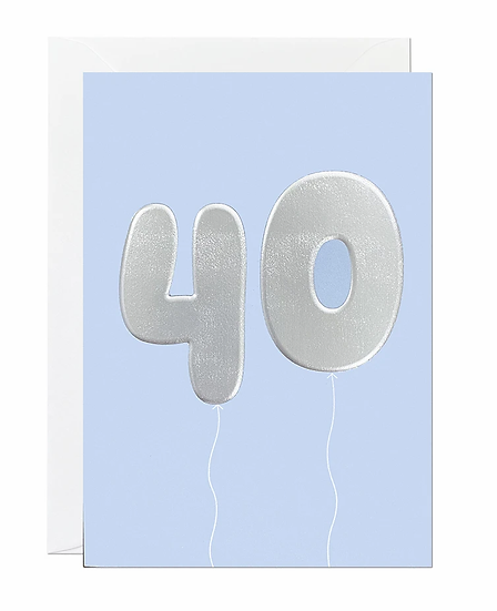 40 Balloon Card