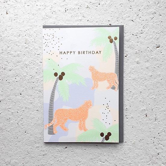 Birthdy Cheetahs Card