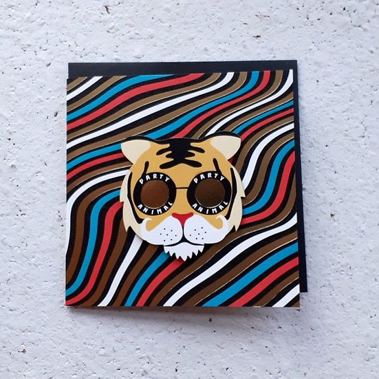 Party Tiger Card