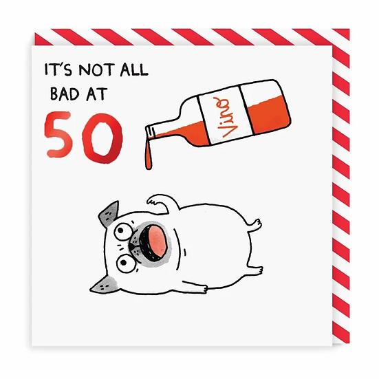 Age 50 Wine Card