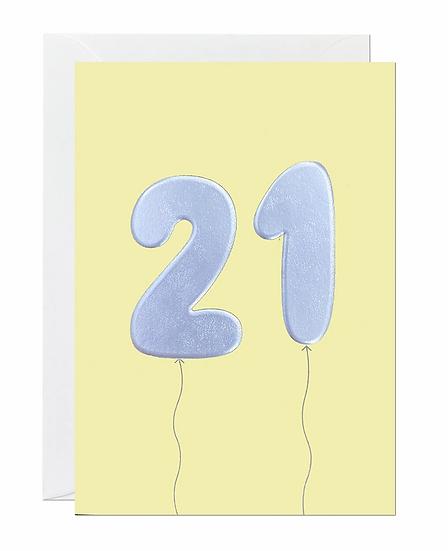 21 Balloon Card