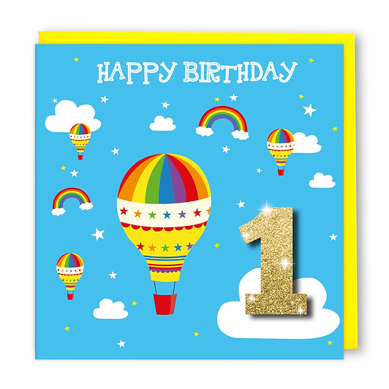 Age 1 Balloons Card