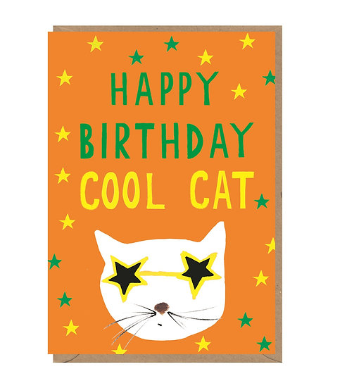 Cool Cat Birthday Card
