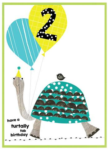 Age 2 Turtle Card