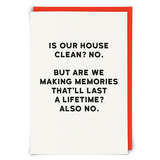 Clean House Card