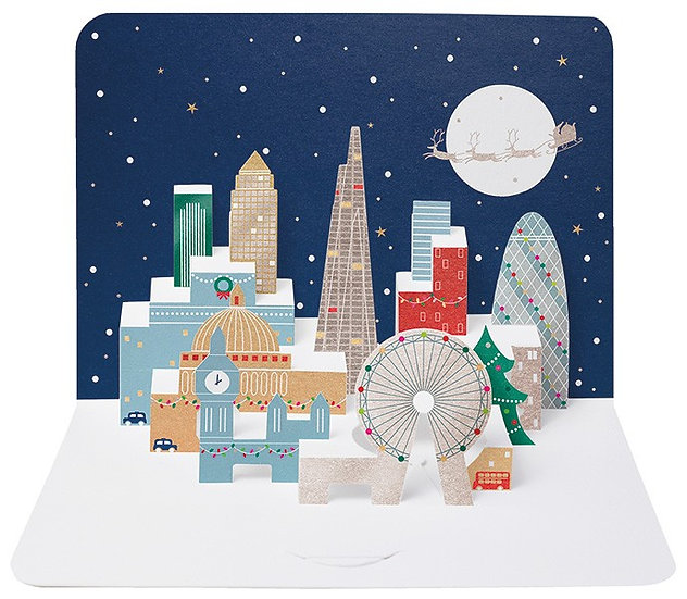 London Fold Out Christmas Card Pack