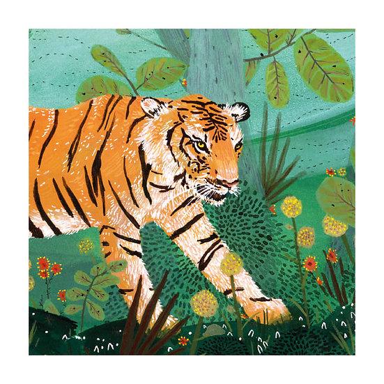 Jungle Tiger Card