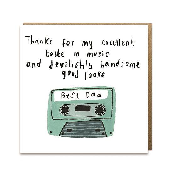 Best Dad Cassette Card