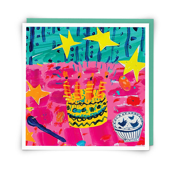 Cake + Stars Card