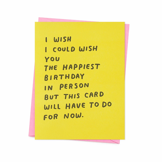In Person Birthday Card
