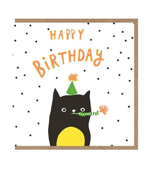Big Black Cat Card