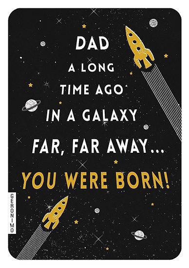 Dad Galaxy Card