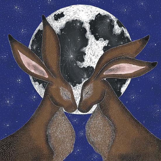 Moon Hares Card