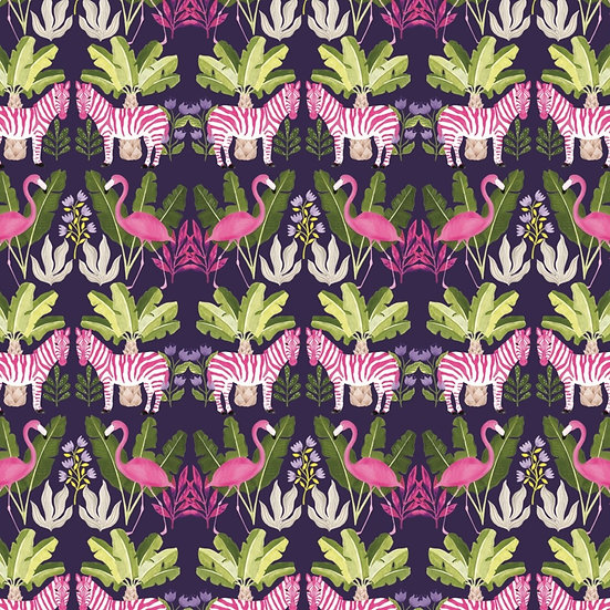 Pink Zebra Wrap x2 Sheets