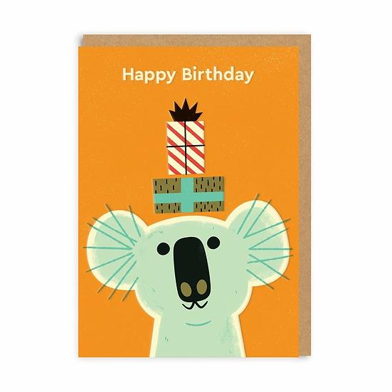 Koala Party Birthday Card