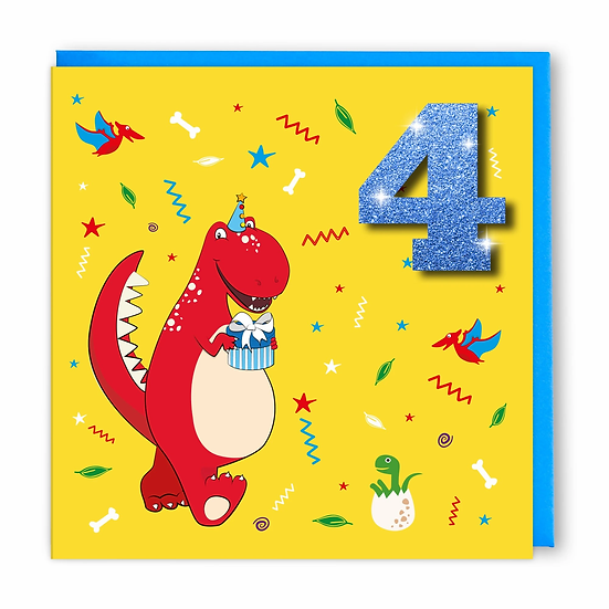 Age 4 Dino Card