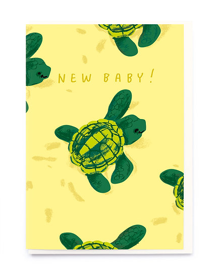 New Baby Turtle Card
