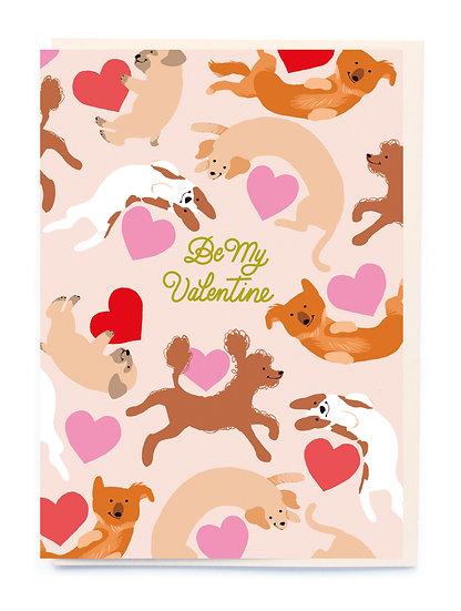 Valentine Dogs Card