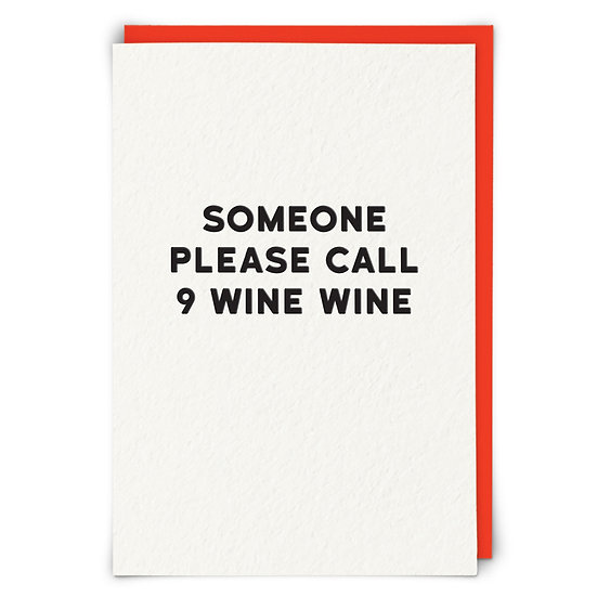 Call 9 Wine Wine Card