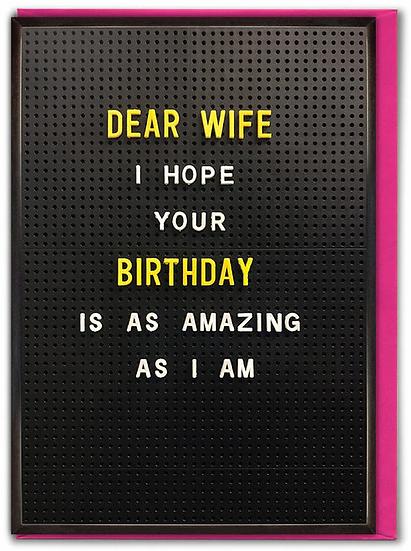 Amazing Wife Birthday Card