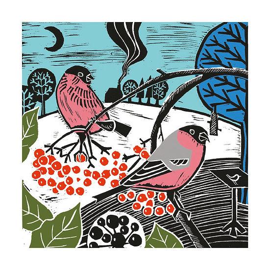 Birds + Berries Christmas Card Pack