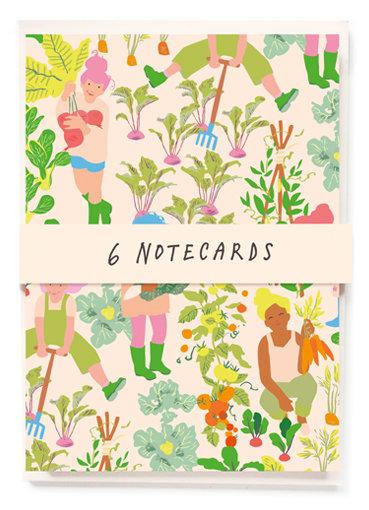 Vegetable Notecards x6
