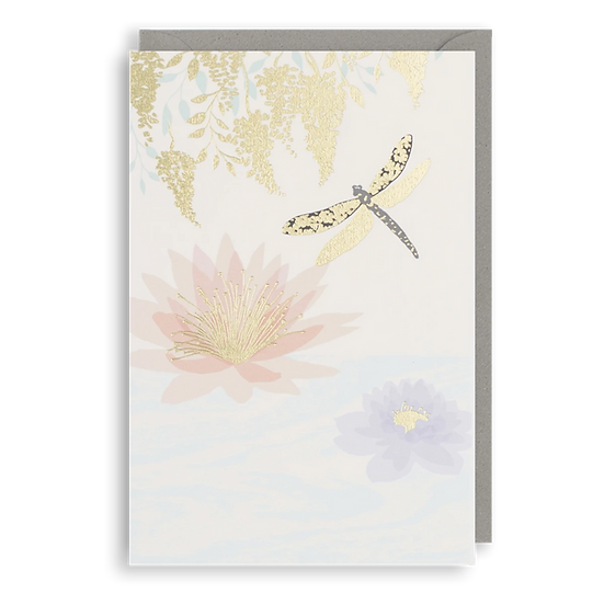 Gold Dragonfly Card