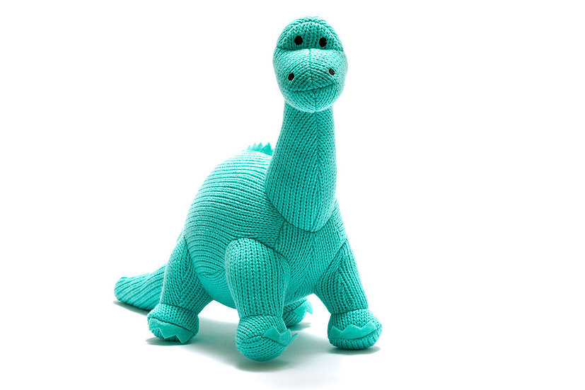 Knitted Diplodocus Blue