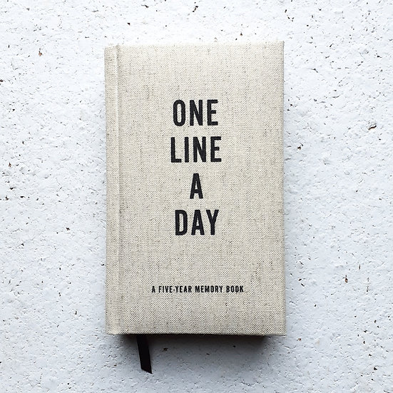 One Line a Day Linen Journal