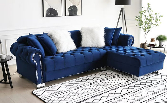 ROYAL BLUE SECTIONAL