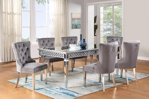 Velik Grey 5pc Dining Set