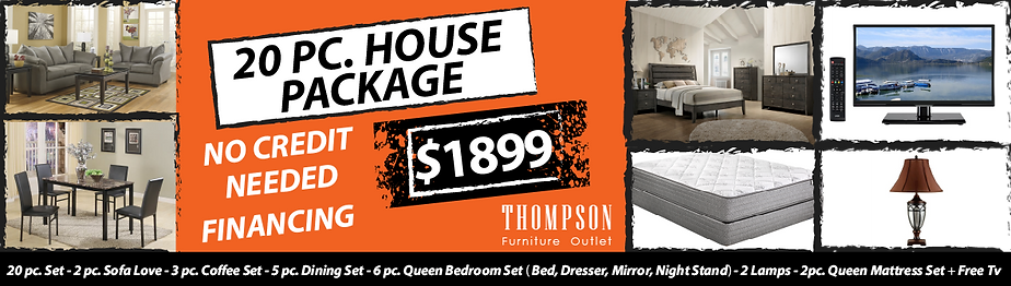 Thompson Furnituer Outlet 20 pc House Package Deal