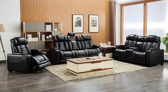 Retro Black Power Sofa Set