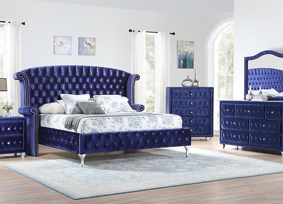 Royal Blue Bedroom