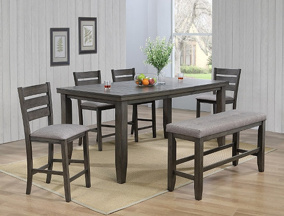 Barstow Grey 6pc Pub Dining Group
