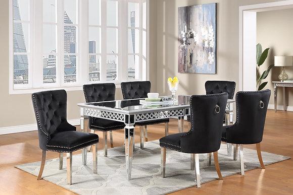 Velik Black 5pc Dining Set