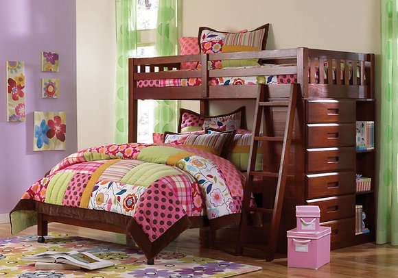 Twin Over Full Bunkbed W/ Drawers